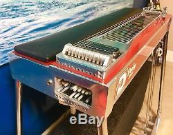 02 Derby SD10 3x5 Standard Emmons E9 Red Mica Pedal Steel Guitar EC