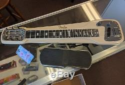 1950's Fender Lap Steel Electric Guitar with Gig Bag and Vintage Volume Pedal
