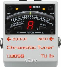 BOSS TU-3S CHROMATIC TUNER BRAND NEW Guitar Effects Pedal