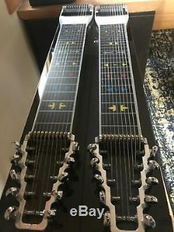 Beautiful Mullen Royal Precision D10 8X4 Pedal Steel Guitar withHard Case VGC