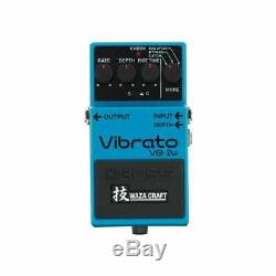 Boss VB-2W Waza Craft Vibrato Electric Guitar or Bass Effect Pedal Brand New
