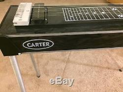 Carter S10 3x4 Standard Emmons E9 Pedal Steel Guitar with Case & Extras