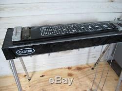Carter Starter 10 String Steel Guitar 3 Pedal, 4 Lever Black 3x4