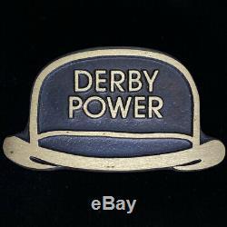 Derby Pedal Steel Guitar Rare Hat Bronze Player Gift NOS 70s Vintage Belt Buckle