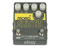 EHX Electro Harmonix Mono Synth Guitar Synthesizer Effects Pedal, Brand New