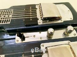 Fender 8 String Dbl Neck Pedal Steel Guitar, Spider IV5 15 Amp, Foot Pedal, +