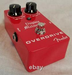 Fender Yngwie Malmsteen Signature Overdrive Guitar Effect Pedal, Red Brand New