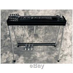 GFI Musical Instruments S-10 SM Pedal Steel Guitar withCase 3 pedals 2 knee levers