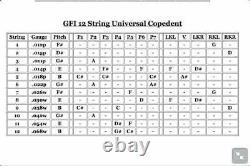 GFI Musical Instruments S-12 P K U Ultra Pedal Steel Guitar Single Neck 12