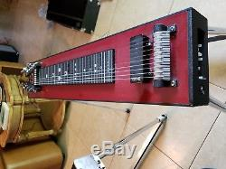GFI Red/Black SM10 Pedal Steel Guitar with Case! VGC