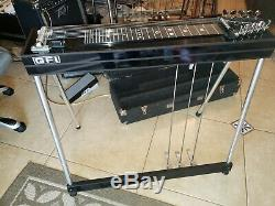 GFI SM10 3X2 Pedal Steel Guitar withSoft Case & Tone Bar Very Good Cond