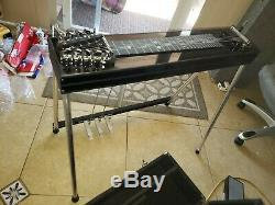 GFI SM10 3X3 Pedal Steel Guitar withHard Case Very Good Cond