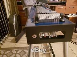 GFI SM10 3X3 blue mica Pedal Steel Guitar