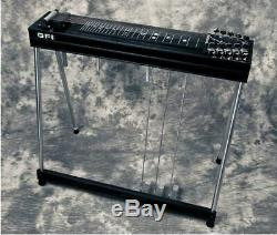 GFI SM10 3X4 Pedal Steel Guitar withCase & Tone Bar Excellent Cond