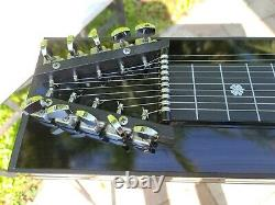 GFI SM10 Black Mica 3X2Pedal Steel Guitar WithHard Case! VGC