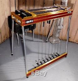 Gfi Ultra D 10 Pedal Steel Guitar W Case And Seat Pro Level Steel No Reserve