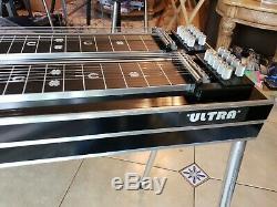 GFI Ultra Keyless D10 8X5 Black Mica Pedal Steel Guitar Case incl