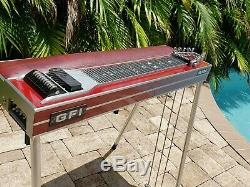 GFI Ultra SD10 3X4 Red Pedal Steel Guitar withHard Case