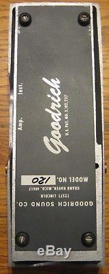 GOODRICH 120 VOLUME PEDAL for Pedal Steel Guitar includes Bracket & has new Pot