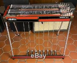 Gfi Expo X1 Steel Guitar D-10 8 Pedals 4 Knee Levers
