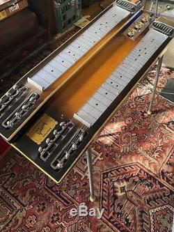 Gibson Console Grande Gein Case Flame Maple Non Pedal Steel Guitar 1950s