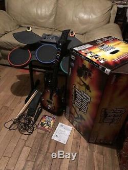 Guitar Hero World Tour Drum Set For PS3 With Pedal, Mic, Guitar, Brand New Game