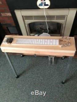 Hudson 6 string pedal steel guitar lefty. Great condition. 2 pedals 1 knee