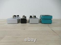 Lot of 4 Guitar Effects Pedal, Nux Steel Singer, Donner Vintaverb, Dark Mouse