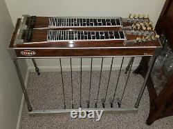 MSA D-10 double neck pedal steel guitar with 8 pedals and 2 knee levers