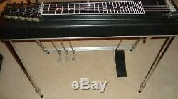 MSA Red Baron Pedal Steel Guitar S10 with Volume Pedal and Hard Case 1970s