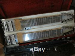 Marlen Dual Double Neck Pedal Steel Guitar C7th E9th Case