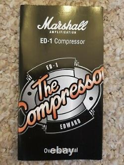 Marshall ED-1 edward the compressor guitar effects pedal in box (brand new)