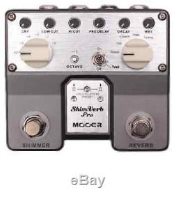Mooer Audio Shimverb Pro Reverb/Shimmer Guitar or Bass Effect Pedal Brand New