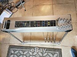 Mullen Discovery 3X5 Brushed Aluminium Mica Pedal Steel Guitar Case ExCond