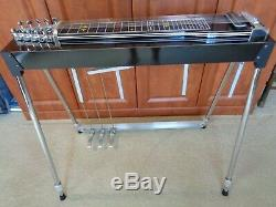 Mullen Discovery Black Pedal Steel Guitar WithCase Showroom Condition 3 X 5