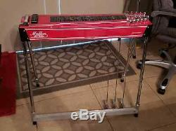Mullen Discovery S10 3X5 Red Special Polished Chrome! Pedal Steel Guitar withCase