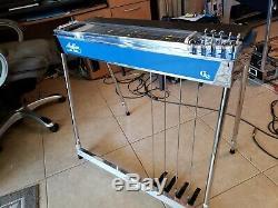 Mullen G2 SD10 4X5 Blue Mica Pedal Steel Guitar Case incl