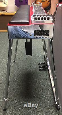 Mullen SD10 Red 3X5 Royal Precision Pedal Steel Guitar with Hard Casel