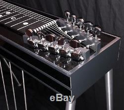 New Gfi Student Model Series Black Pedal Steel Guitar 3&4 3 Pedals 4 Knee Levers