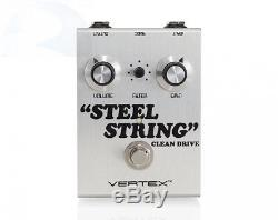 New Vertex Effects Steel String Clean Drive Guitar Effect Pedal