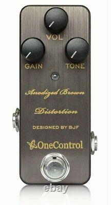 One Control Anodized Brown Distortion BRAND NEW Guitar Effect Pedal
