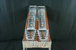 PEDAL STEEL GUITAR-Emmons 2 D-10, 8 PETALS-4 KNEE- WOOD-MICA Free Shiping