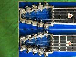 Pedal Steel Guitar Carter D10 Double Twin Neck 8 George L's Case and Bench Seat