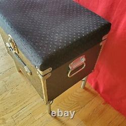 Pedal Steel Guitar Pack A Seat Carter Show Bud Vintage Stool Chair Roadcase Case