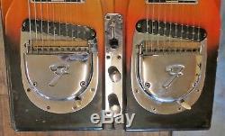 Rare Vintage 1960s Fender 2000 Double Neck Sunburst Pedal Steel 10 String Guitar