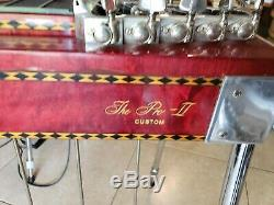 Sho Bud Pro-II Custom 3X4 Red Pedal Steel Guitar Hard Case incl