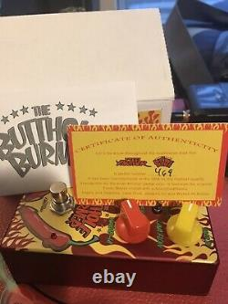 Steel Panther Butthole Burner Distortion Limited Rare Guitar Effect Pedal + Box