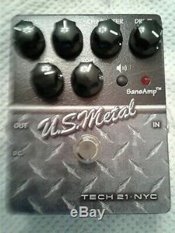 TECH 21 U. S. Steel (U. S. Metal) Guitar Effect Pedal