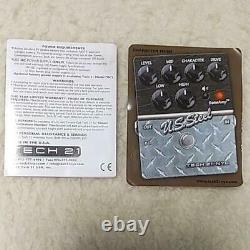 Tech 21 SansAmp US Steel Metal Distortion Guitar Effects Pedal Used F/S