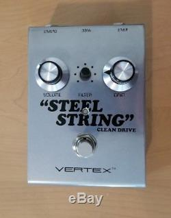 Vertex Effects Steel String Clean Drive Guitar Effect Pedal! Mint, in org box